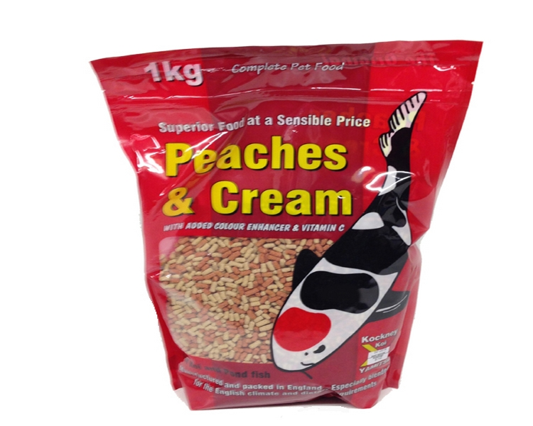 1kg of Yamitsu Peaches & Cream Sticks - Ideal For All Pond Fish